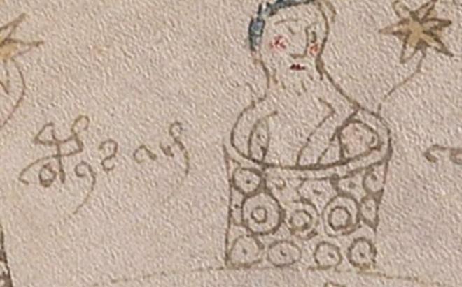 """Hình vẽ mô tả một người đang tắm, với chú thích """"tu sĩ tắm"""". Ảnh: Telegraph."""