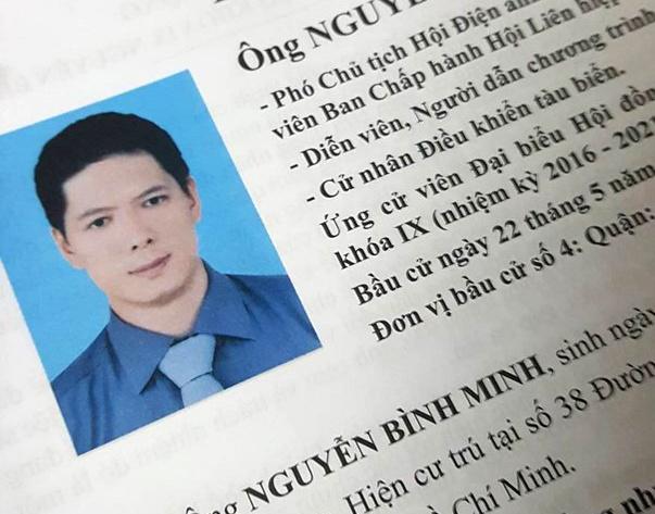 Dien vien Binh Minh khong trung cu dai bieu HDND TP HCM hinh anh