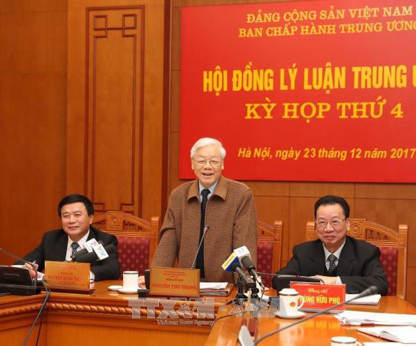 Tong bi thu Nguyen Phu Trong du ky hop cua Hoi dong Ly luan Trung uong hinh anh