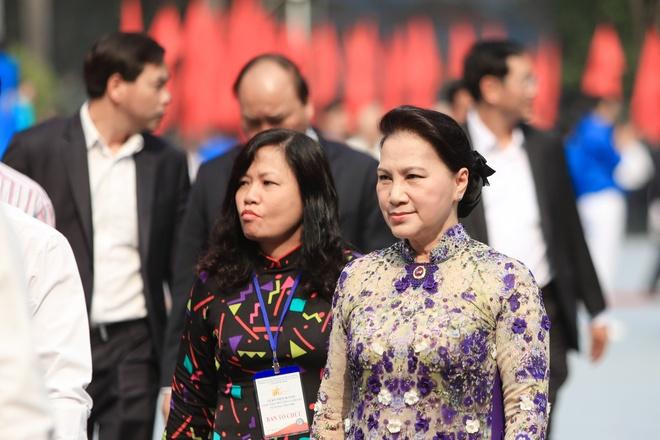 Lanh dao Dang, Nha nuoc du le ky niem Tong tien cong Mau Than 1968 hinh anh 2