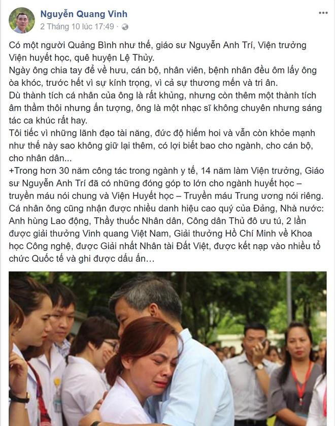 'Bac si Nguyen Anh Tri ve huu nhung van luon trong long benh nhan' hinh anh 1