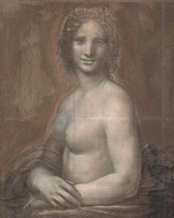 Bao tang Lourve: da Vinci co the da ve buc Mona Lisa phien ban nude hinh anh 1