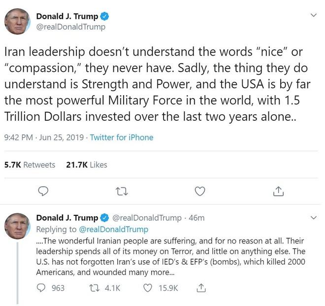 Trump de doa xoa so Iran anh 1