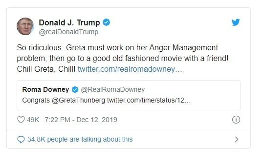 Trump che gieu Thunberg anh 1