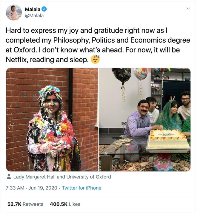 Malala Yousafzai da tot nghiep Oxford anh 1