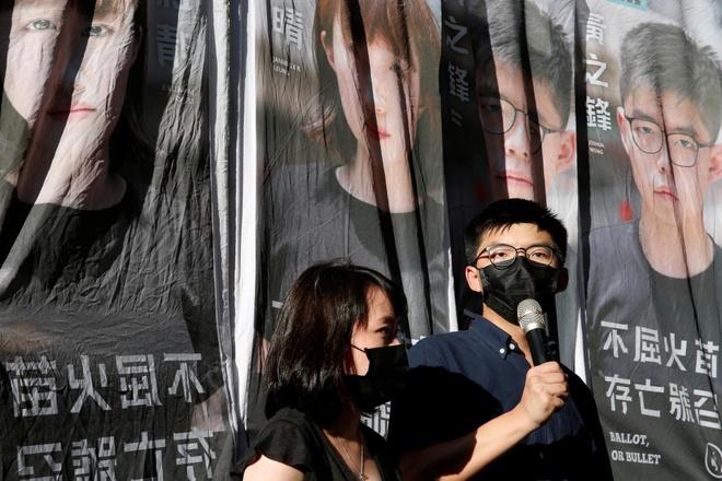 Joshua Wong du dinh ra tranh cu anh 1