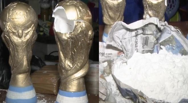 Mo hinh cup vang World Cup thanh phuong tien giau ma tuy hinh anh