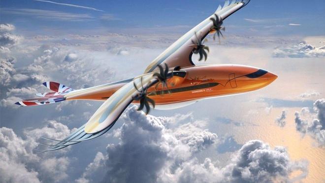 """Mô hình máy bay """"Bird of Prey"""" sử dụng động cơ thân thiện với môi trường. Đồ họa:Airbus."""