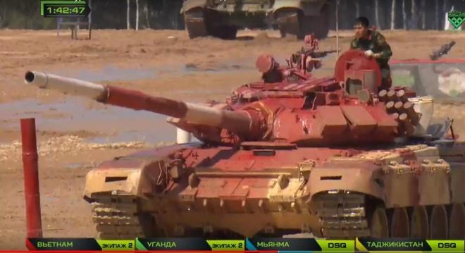 Đội xe tăng Việt Nam xuất sắc dẫn đầu bảng đấu bán kết