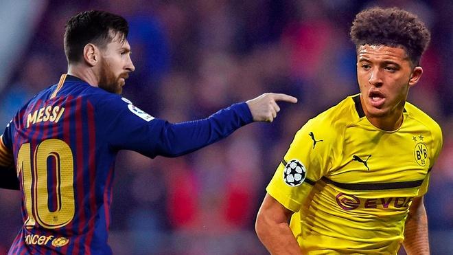Jadon Sancho - sao tre chia tay Man City va co the thach thuc Messi hinh anh 1
