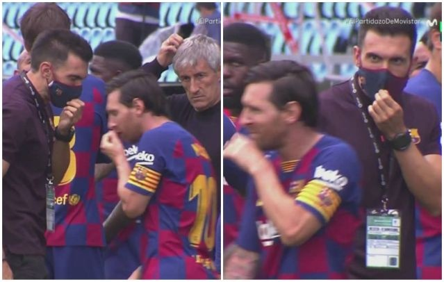 Lionel Messi Barcelona Quique Setien anh 2