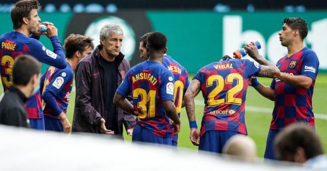 Lionel Messi Barcelona Quique Setien anh 1