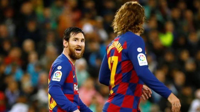 Antoine Griezmann Lionel Messi Barcelona anh 2