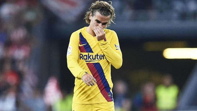 Antoine Griezmann Lionel Messi Barcelona anh 3