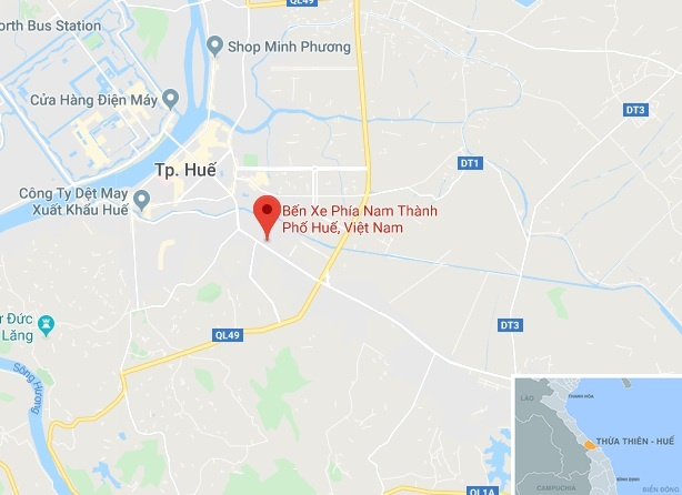 Hanh khach bat ngo duoc chu tich tinh ra ben xe chuc Tet hinh anh 2 map_hue_hanhkhach.jpg