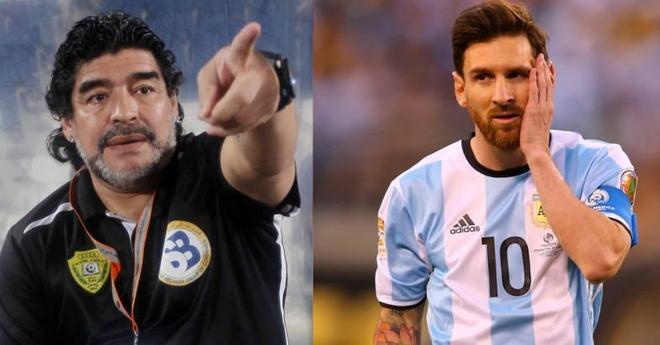 Maradona: 'Messi dung quay tro lai DT Argentina them mot lan nao nua' hinh anh
