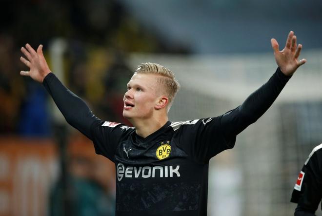 Haaland hiện nhận mức lương được cho vào khoảng 100.000 euro/tuần tại Dortmund. Ảnh: Reuters.