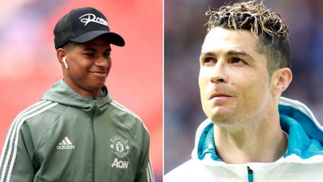 Ronaldo lai khien Rashford sung suong vi mon qua dac biet hinh anh