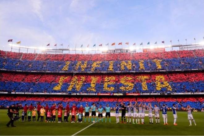 Nou Camp nghen ngao chia tay 'phu thuy' Iniesta hinh anh 5