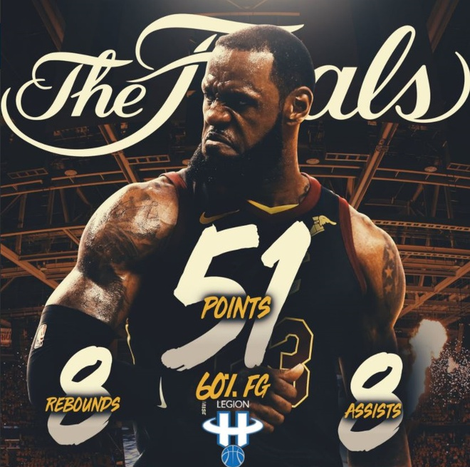 Cavaliers 114-124 Warriors: King James bat luc chiu tran hinh anh 13