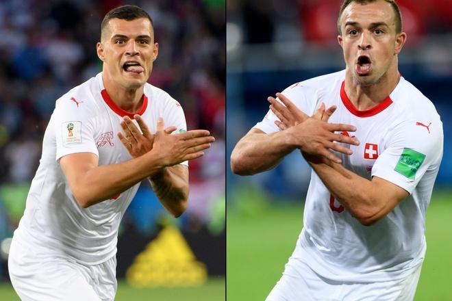 FIFA ra an phat cho Shaqiri, Xhaka sau hanh dong an mung tranh cai hinh anh 1