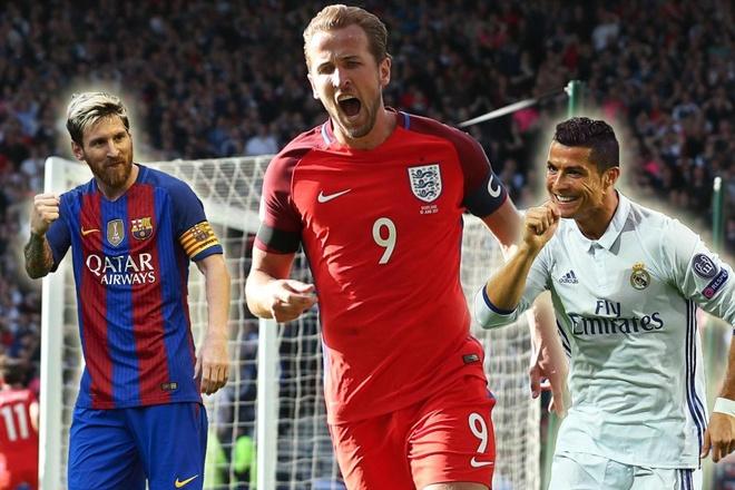 Harry Kane muon vi dai nhu Ronaldo va Messi hinh anh 1