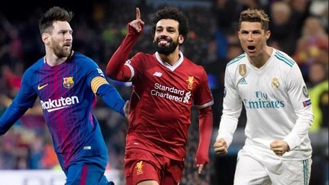 Ronaldo, Messi, Salah tranh giai tien dao hay nhat Champions League hinh anh
