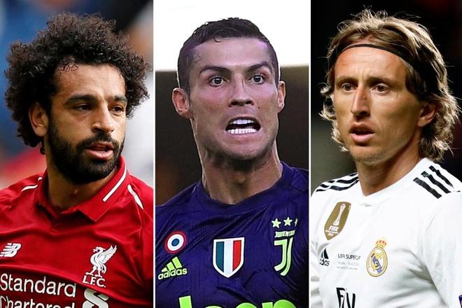 Ronaldo, Salah quyet chien o giai cau thu hay nhat UEFA hinh anh
