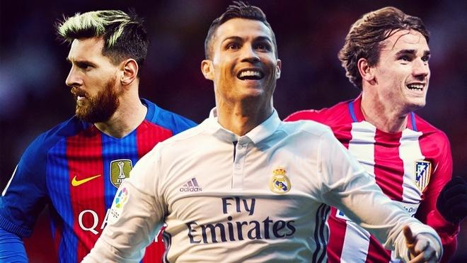 Griezmann tu dat minh cung dang cap voi Ronaldo, Messi hinh anh