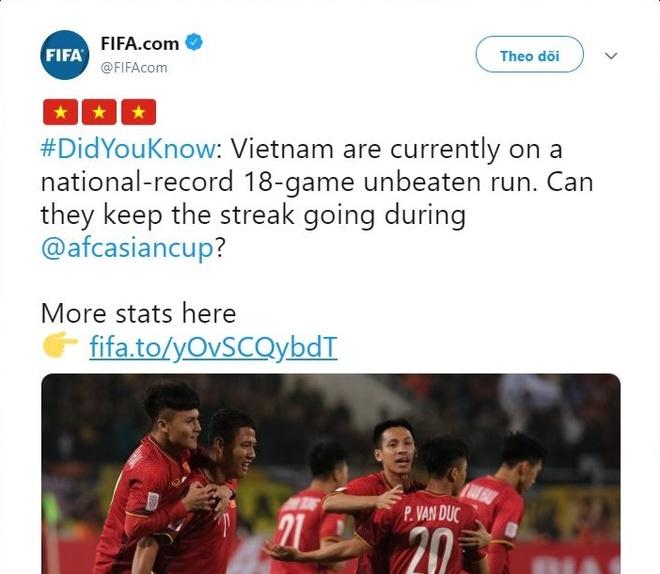 FIFA tiet lo ky luc 18 tran bat bai cua tuyen Viet Nam hinh anh 1