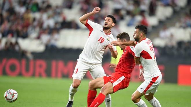 Đội tuyển Jordan đang đứng thứ 109 trên bảng xếp hạng của FIFA. Ảnh:AFC.