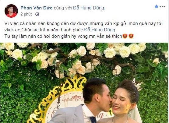 Phan Van Duc tu lam qua dac biet den dam cuoi Hung Dung hinh anh 1