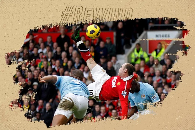 Rooney tung nguoi ghi ban dep nhat lich su tran derby Manchester hinh anh
