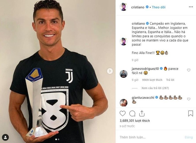 Ronaldo tu hao sau thanh tich chua tung co trong lich su hinh anh 1