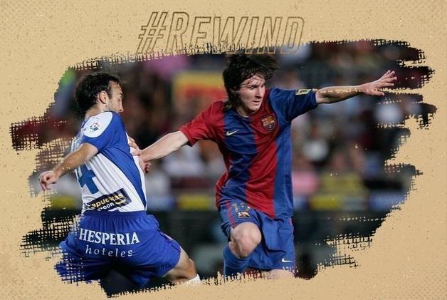 Messi trong ngay ra mat Barcelona 15 nam truoc hinh anh