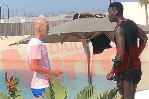 HLV Zidane gap Pogba giua tin don chuyen nhuong hinh anh 1