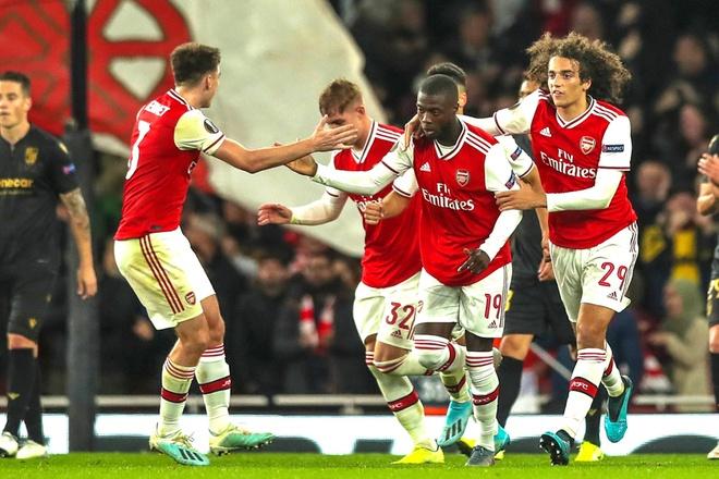 Arsenal thang kich tinh o phut bu gio nho tan binh Pepe hinh anh 1
