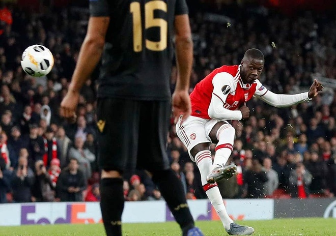 Arsenal thang kich tinh o phut bu gio nho tan binh Pepe hinh anh 2