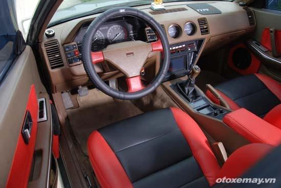 Nissan Z31 hang hiem van chay tot sau gan 30 nam hinh anh 6 Nội thất được thay đổi màu sắc bằng cách bọc da mới cho ghế.