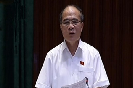 Chủ tịch Quốc hội Nguyễn Sinh Hùng phát biểu kết luận phiên chất vấn Bộ trưởng Tài chính.