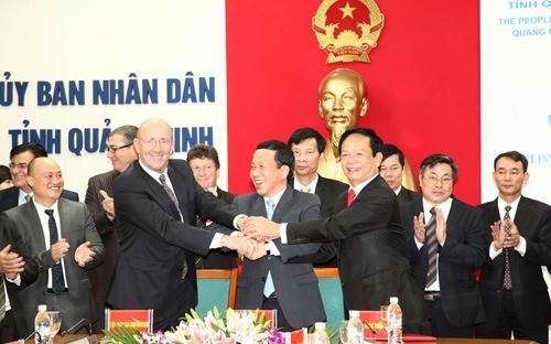 Tập đoàn ISC Corporation (Mỹ) và Tập đoàn Tuần Châu đã cùng ký biên bản ghi nhớ hợp tác đầu tư khu vui chơi giải trí với UBND tỉnh Quảng Ninh vào tháng 9/2013.