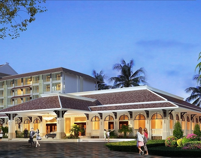 Co gi ben trong khu nghi duong 5 sao dau tien o Phu Quoc? hinh anh 3   Khách sạn Vinpearl Resort Phú Quốc có giai đoạn 1 hai khối nhà cao 07 tầng được thiết kế theo hình vòng cung ôm lấy khu hồ bơi có diện tích rộng gần 5.000m2 và hơn 30 biệt thự. Khi hoàn thành, Vinpearl Phú Quốc sẽ trở thành khách sạn 5 sao lớn nhất Phú Quốc với 750 phòng tiện nghi, có thể đón tối đa lên đến 2.000 lượt khách lưu trú.
