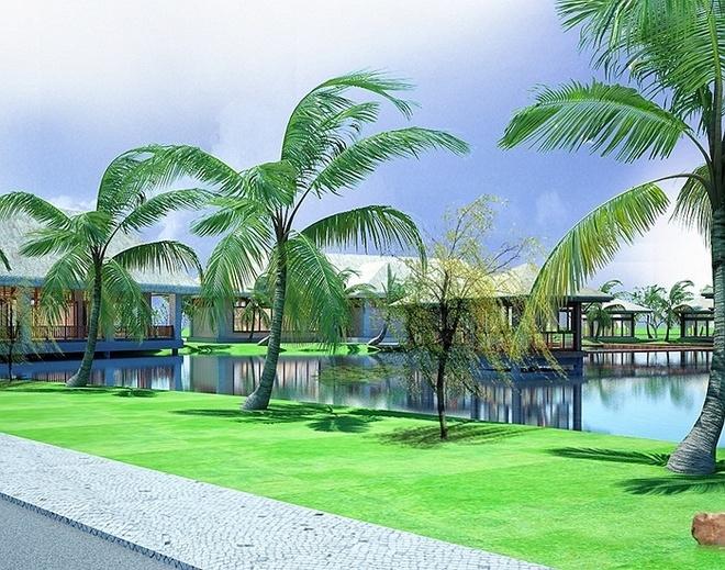 Co gi ben trong khu nghi duong 5 sao dau tien o Phu Quoc? hinh anh 6   Tổ hợp du lịch nghỉ dưỡng Vinpearl Phú Quốc còn sở hữu một sân golf 27 lỗ đạt chuẩn quốc tế đầu tiên trên đảo Phú Quốc. Sân golf có diện tích trên 100ha, được thiết kế độc đáo theo mô hình các sân golf biển - đảo nổi tiếng trên thế giới. Công ty IMG (Mỹ) – Đơn vị tư vấn số 1 thế giới về sân golf – đã tận dụng hết ưu thế về vị trí địa hình tự nhiên tuyệt đẹp trên hòn đảo này để tạo nên một sân golf đẳng cấp quốc tế.