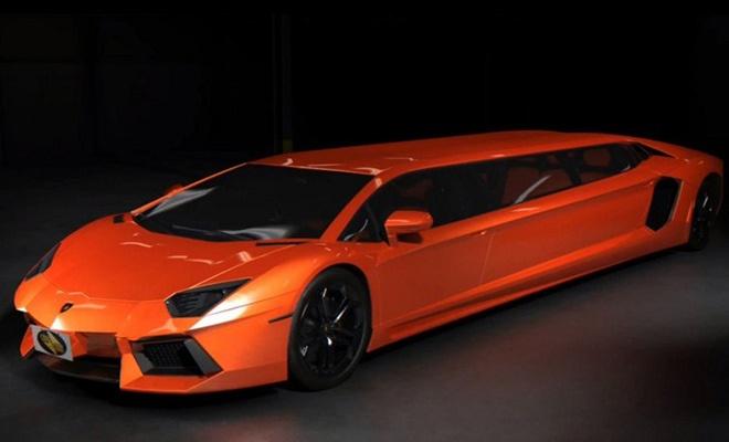 10. Lamborghini Aventador Stretch Limo với giá trị chưa xác định. Phiên bản limousine của siêu xe hàng đầu của Lamborghini được công ty chuyên sản xuất xe limousine Cars for Stars chế tạo năm 2013. Siêu xe này không chỉ được kéo dài kích thước mà còn được nâng cấp động cơ lên mức công suất 700 mã lực. Nội thất xe được thiết kế lại với rất nhiều đồ chơi công nghệ như tivi plasma, quầy rượu và có đủ không gian cho 7 người.