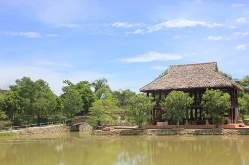Vuon thu quy hiem cua dai gia Le Thanh Than hinh anh 3 Một góc Khu du lịch sinh thái Trại Bò.