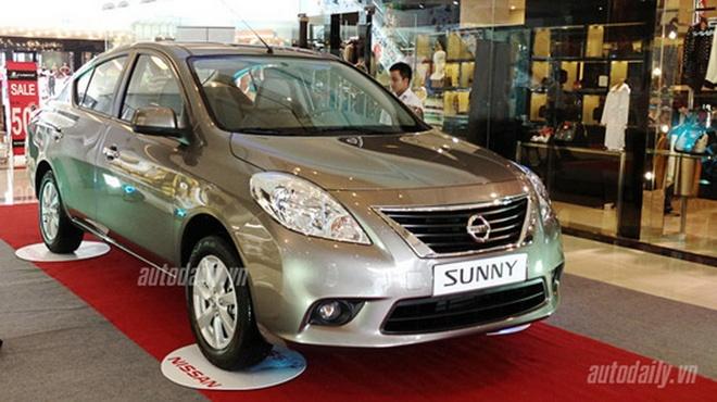 Nissan Sunny Giá bán Nissan Sunny tại Việt Nam  Sunny L 1.5 MT (số sàn): 460.000.000 (VNĐ) Sunny XL 1.5 MT (số sàn): 510.000.000 (VNĐ) Sunny XV 1.5 AT (số tự động): 560..000.000 (VNĐ)