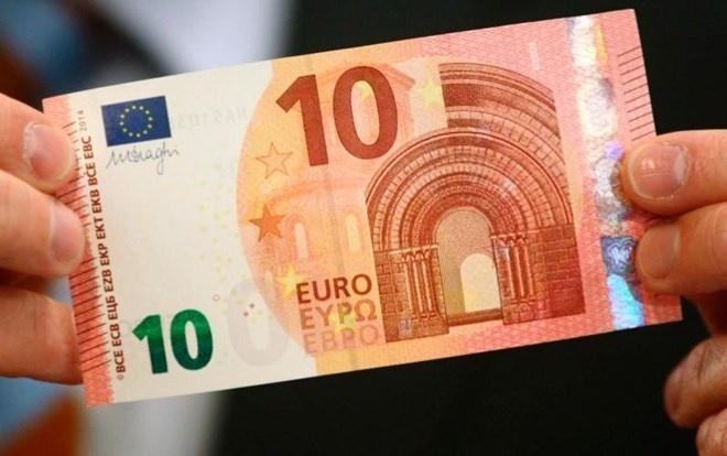 Ngan hang Trung uong chau Au luu hanh dong tien 10 euro moi hinh anh 1 Ngân hàng trung ương châu Âu (ECB) đã phát hành đồng tiền giấy mệnh giá 10 euro mẫu mới.