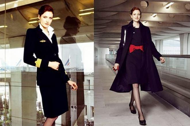 Nhung bo dong phuc hang khong dep nhat the gioi hinh anh 1 Váy liền, áo vest dài, một chiếc nơ màu đỏ làm điểm nhấn, trang phục của Air France làm xiêu lòng bất cứ hàng khách khó tính về mặt thẩm mỹ.