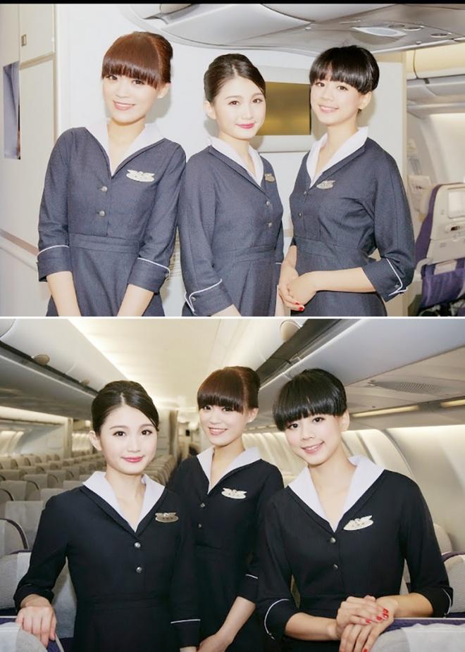 Nhung bo dong phuc hang khong dep nhat the gioi hinh anh 5 Các cô gái TransAsia Airways (Đài Loan) với hai kiểu trang phục tiếp viên, tuy kín đáo mà vẫn cuốn hút.