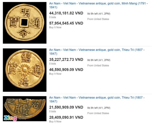 eBay rao ban dong xu vang thoi vua Tu Duc gia 199 trieu dong anh 3